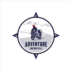 Motorcycle expedition tours in mountains road