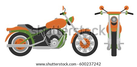 motorcycle  front view  side