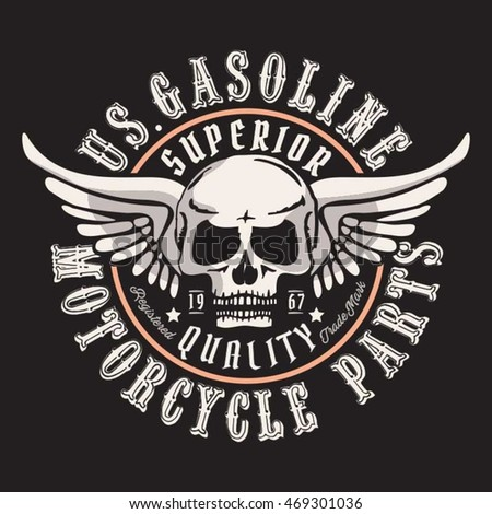 motorcycle gasoline skull