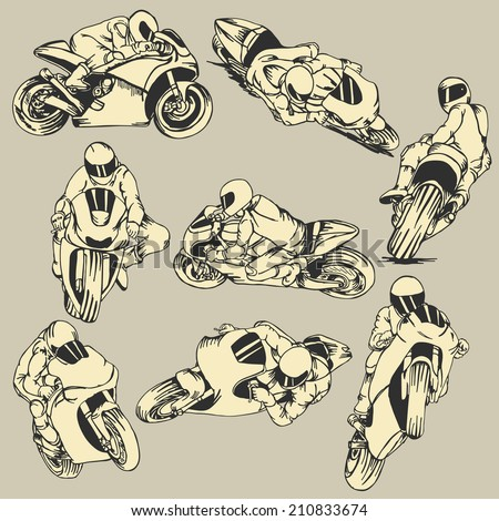 motorcycle high speed action
