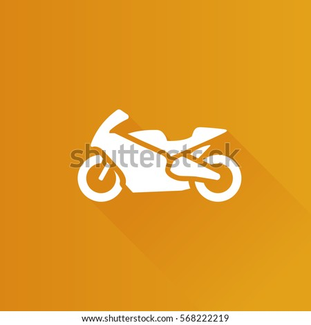 Motorcycle icon in Metro user interface color style. Sport speed race