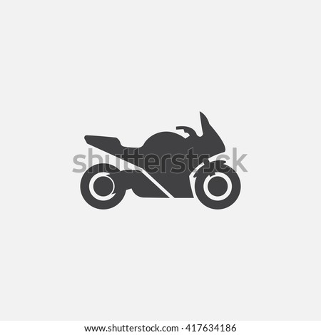 motorcycle icon vector  solid