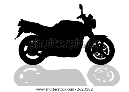 motorcycle illustration on white background