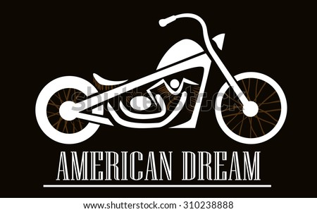 motorcycle in american style
