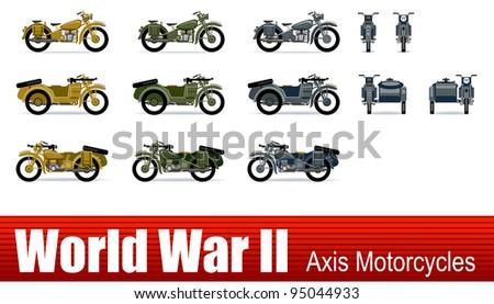 motorcycle  in vector ww2