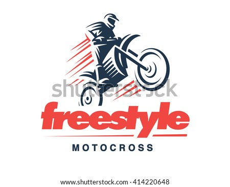Motorcycle logo illustration, emblem