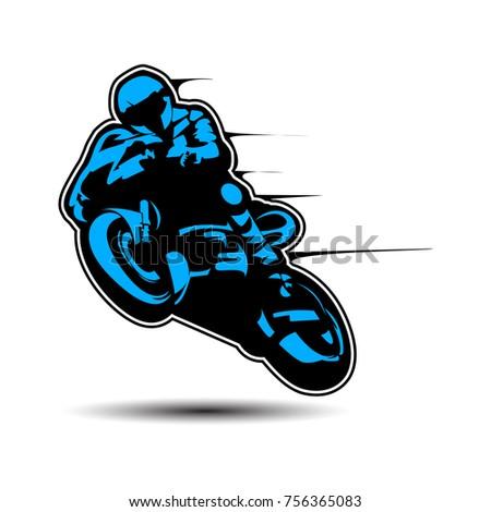 Motorcycle motor bike Logo design vector