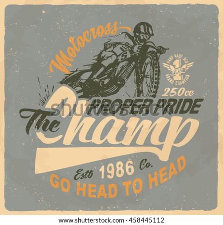 motorcycle motorcross vintage