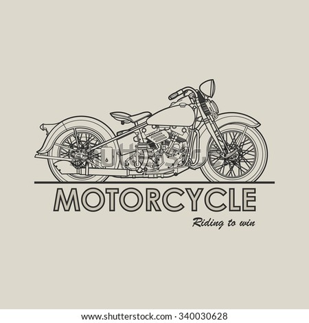 motorcycle old poster
