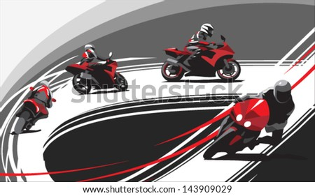 motorcycle racers on the track