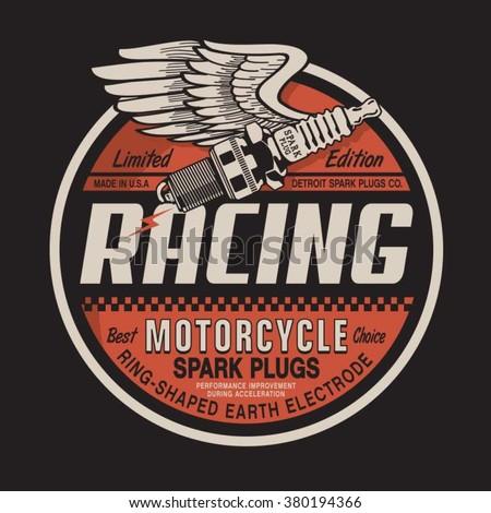 motorcycle racing plug ...