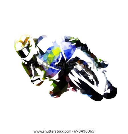 motorcycle rider  abstract