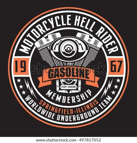 motorcycle rider typography  t...