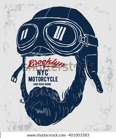 motorcycle rider with retro