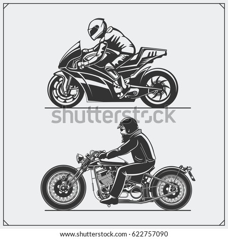 motorcycle riders emblems of