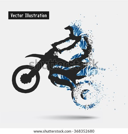motorcycle riders vector eps10