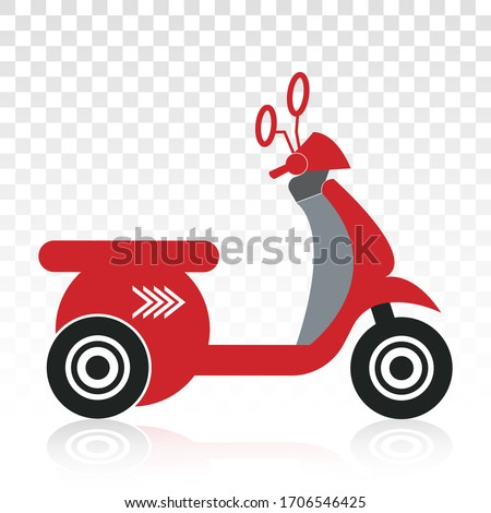 motorcycle scooter flat icons
