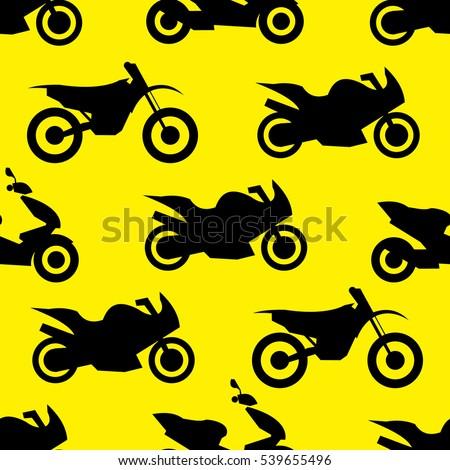 motorcycle seamless pattern