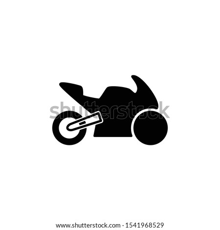 motorcycle sport icon black