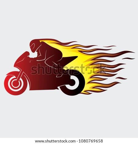 motorcycle sport illustration