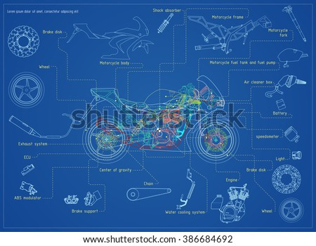 Motorcycle Part Vectors - Download Free Vector Art, Stock Graphics ...