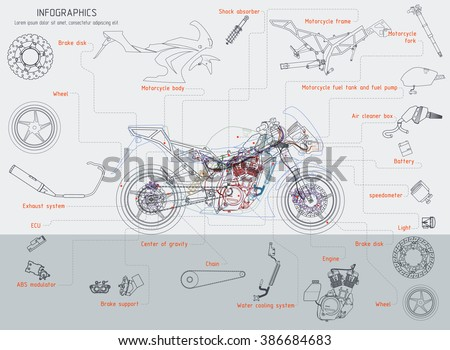 motorcycle structure parts