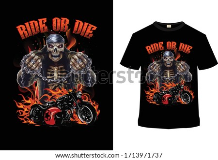 motorcycle t shirt design  ride