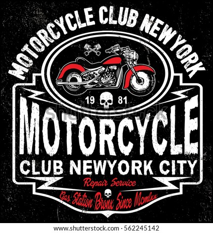 motorcycle tee graphic design