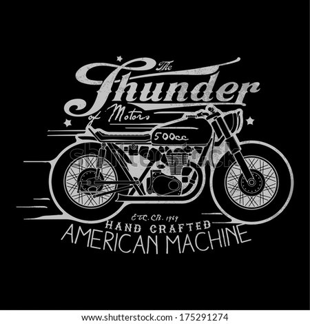 motorcycle themed t shirt