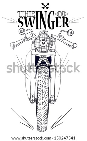 motorcycle vector bike and fast
