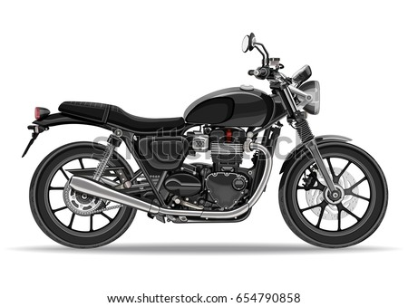 motorcycle vector  realistic