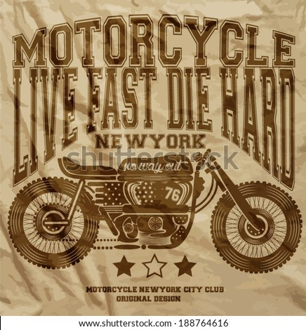 motorcycle vintage new york t