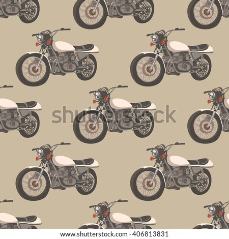 motorcycle vintage pattern