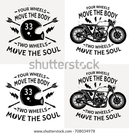 motorcycle with text four