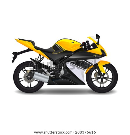 motorcycle yellow sport bike