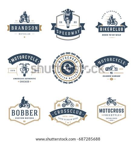 motorcycles logos templates
