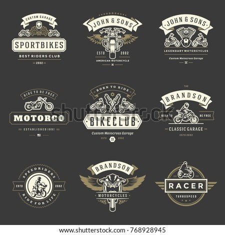motorcycles logos templates