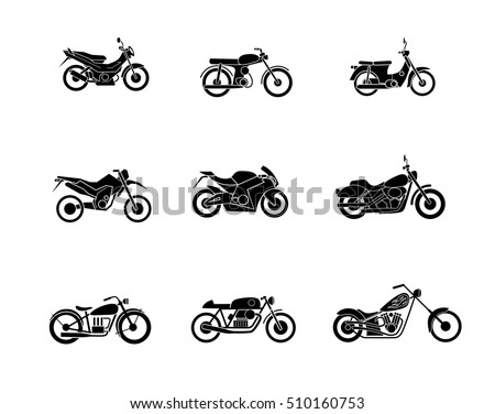 motorcycles  vector illustration