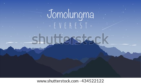 mount everest  also known in