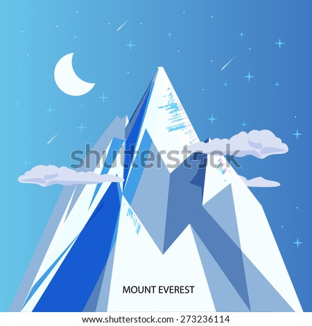 mount everest with clear night