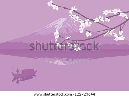 mount fuji and sakura