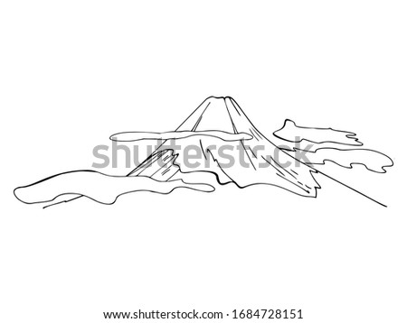 mount fuji isolated on a white