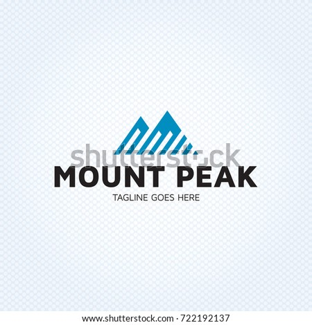 mount peak logo design template
