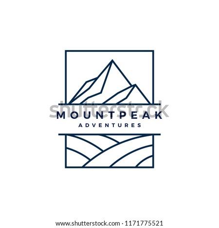 mount peak mountain logo vector