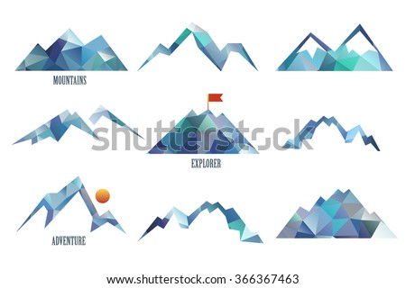mount triangle vector