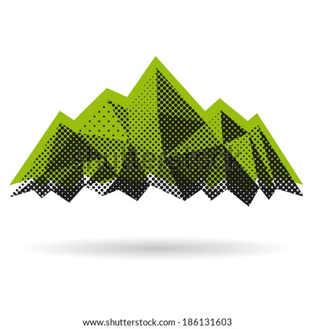 mountain abstract isolated on a