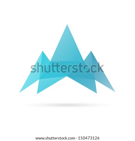 Mountain abstract isolated on a white backgrounds