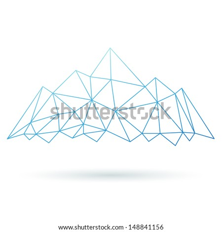 Mountain abstract isolated on a white backgrounds. Vector illustration