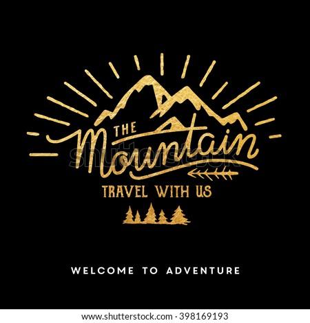 mountain adventure lettering