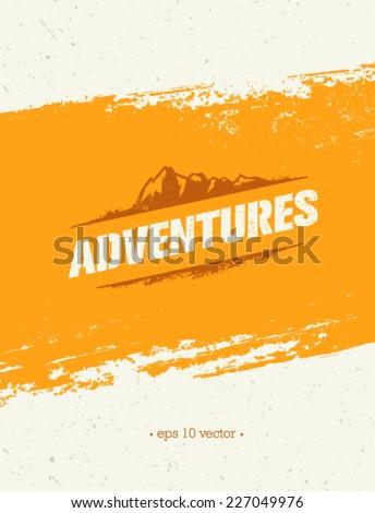 mountain adventures vector